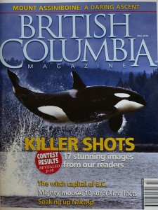 Captn. Garry Henkel's photo on the cover of BC Magazine.